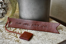 Leather Book Mark-Dark Brown-Read more. Worry less.