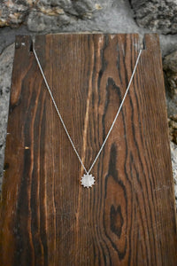 Sun Burst Necklace-Silver