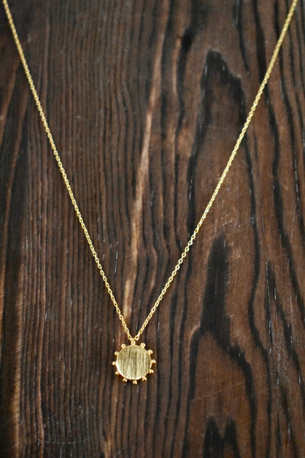 Sun Burst Necklace-Gold
