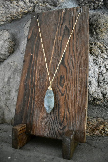 Smoke Stone Pendant Necklace