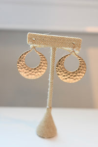 Hammered Tear Drop Earring