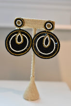 Black Sequin + Seed Earring