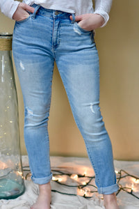 Kancan Light Wash Relaxed Jean