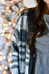Sleigh Bells Checkered Sweater Cardigan