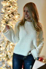 Winter White Fuzzy Sweater