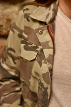 Washed Camo Cargo Jacket