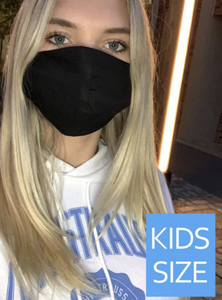 *Kids Size* Black Mask