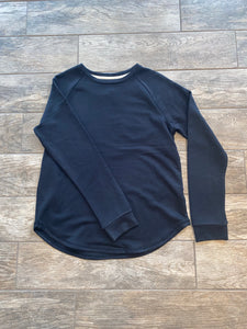 Unwind Fleece Top (Black)