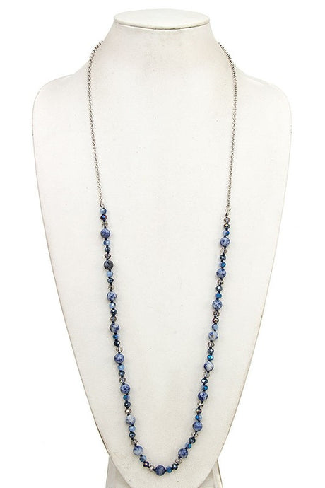 Marbled Beaded Necklace