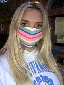 Rainbow Stripe Mask