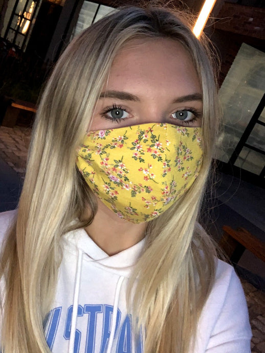 Yellow Floral Mask
