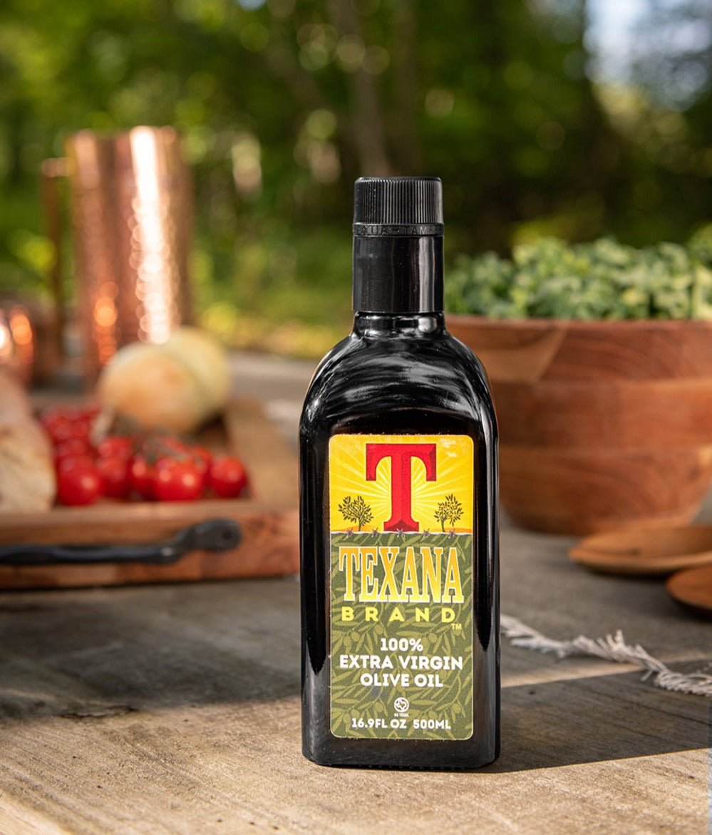 Texana Brand Extra Virgin Olive Oil, 500ml (16.9oz)