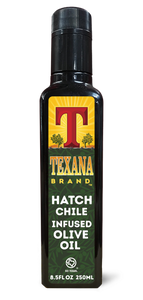 Texana Brand Hatch Chile Infused Olive Oil, 250ml (8.5oz)