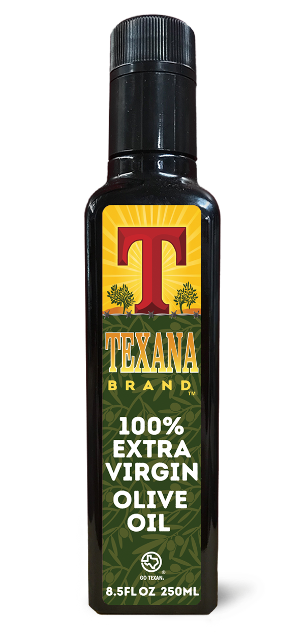 Texana Brand Extra Virgin Olive Oil, 250ml (8.5oz)
