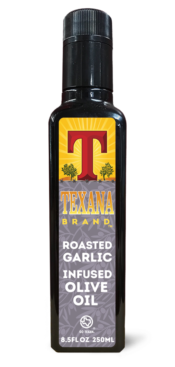 Texana Brand Roasted Garlic Infused Olive Oil, 250ml (8.50z)