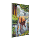 "CAK-SC1: ""Fell Ponies "" Framed Crystal Art Kit 30 x 30cm (Medium)"