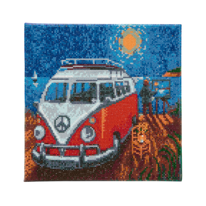 "CAK-PA1: ""Camper Van Go "" Framed Crystal Art Kit 30 x 30cm (Medium)"