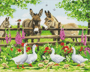"CAK-A124L: ""Farmyard Family"" 40x50cm Crystal Art Kit"