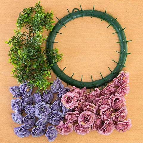 Craft Buddy Begonia Wreath Making Kit Mystical