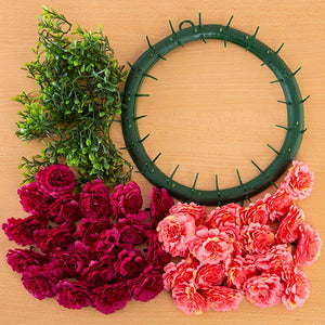 Craft Buddy Begonia Wreath Making Kit - Passion