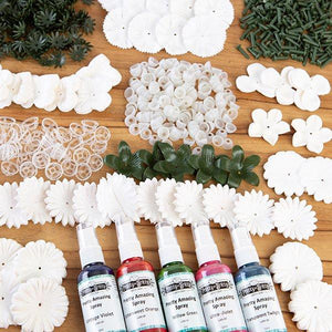Forever Flowers Wonderful Whites Kit with 5 Pretty Amazing Autumn Sprays