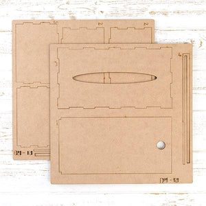 Pretty Gets Gritty - MDF Large Tissue Box Holder Kit