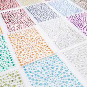 Craft Buddy Mixed Size Coloured Rhinestone Gems Set - Set of 20 packs