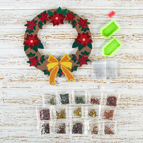 Crystal Art Festive Wreath Kit