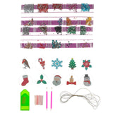 CAD-10XM: Crystal Art Festive Hanging Baubles set of 10