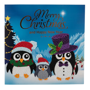 "C2. ""Penguin Family"" Crystal Card Kit"