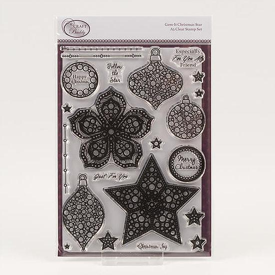 Gem It - Christmas Star A5 Clear Stamp Set