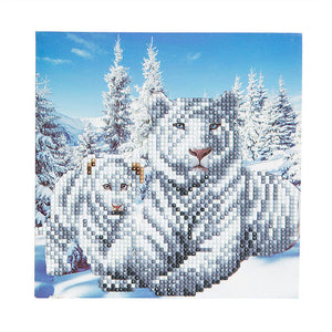 "CCK-A8. ""Snowy White Tigers"" Crystal Card Kit"