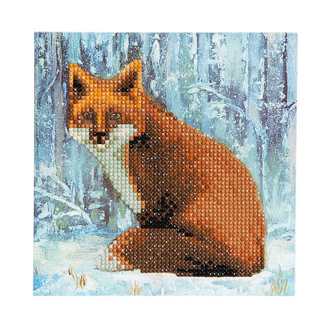 "CCK-A9. ""Winter Fox"" Crystal Card Kit"
