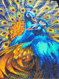 "CAK-JB1: ""Blue Rapsody Peacocks"" Framed Crystal Art Kit 40 x 50cm (Large)"