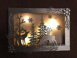 LED Christmas MDF Scene Kit