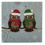 "C5. ""Pair of Owls"" Crystal Card Kit"