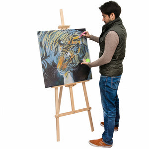 170cm Large Artist Studio Easel - Pine Wood