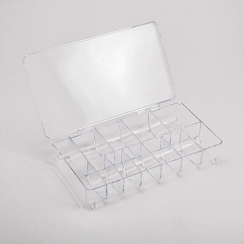 11-compartment Acrylic Storage Box with Lid - Round edge for easy removal gems