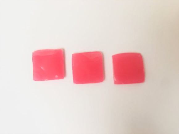 Set of 3 Pink Jelly Squares