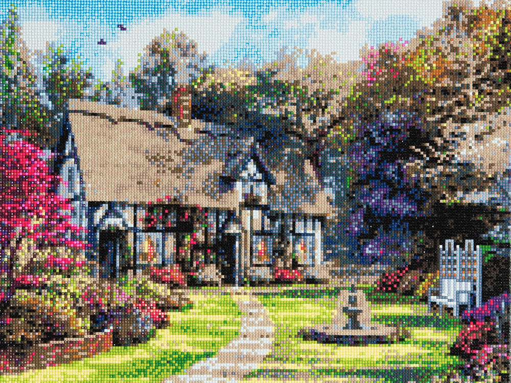 "CAK-A29: ""Country Cottage"" Framed Crystal Art Kit, 40 x 50cm"