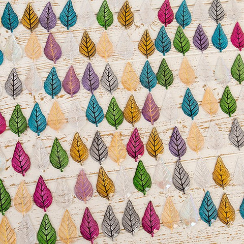 Craft Buddy Assorted Coloured Acrylic Leaves set of 100