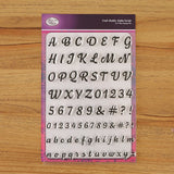 Craft Buddy Alpha Script A5 Clear Stamp Set - CBSP02
