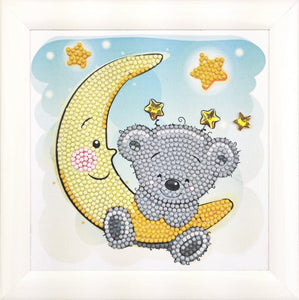 "CAFBL-2: ""Teddy on the Moon""  Frameables Kit with Picture Frame"
