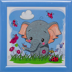 "CAFBL-3: ""Elephant"" Crystal Art Frameable Kit"