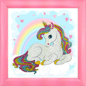 "CAFBL-4: ""Unicorn Rainbow"" Crystal Art Frameables Kit with Picture Frame"