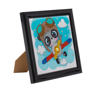 "CAFBL-5: ""Flying Panda"" Crystal Art Frameable Kit"