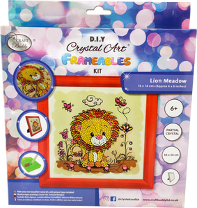 "CAFBL-6: ""Lion"" Crystal Art Frameable Kit"