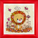 "CAFBL-6: ""Lion"" Crystal Art Frameables Kit with Picture Frame"