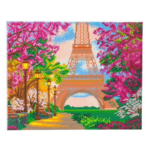 "CAK-A102L: ""Paris in Autumn"" Framed Crystal Art Kit, 40 x 50cm"