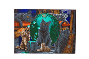 "CAK-A105XL: ""Magical Cats Montage"" Crystal Art Kit 90 x 65cm (XXL)"